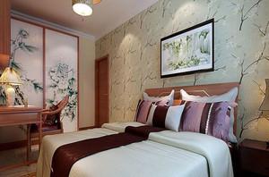 风格搭配的卧室墙贴装修效果图