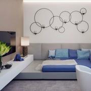 卧室简约风格现代化背景墙设计