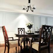 中式餐厅原木深色桌椅装饰