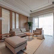 日式客厅简约窗户装饰