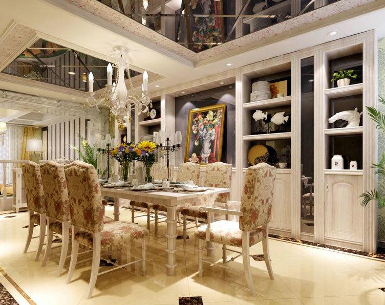 尽显人文情怀:整洁明亮的欧式大户型餐厅吊顶装修效果图鉴赏