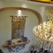 欧式奢华客厅置物架装饰