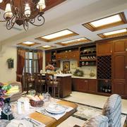 美式整体式厨房设计