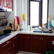 美式简约风格厨房木制橱柜