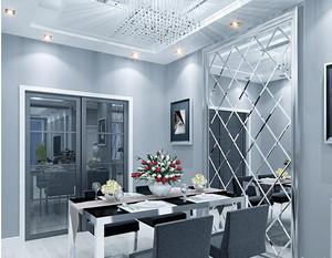 创新型艺术玻璃背景墙装修效果图