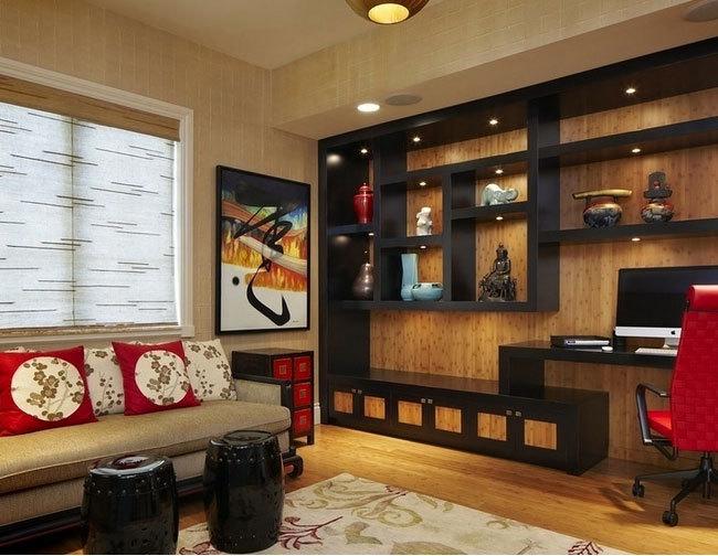 设计精致、庄严大气的中式客厅博古架装修效果图鉴赏