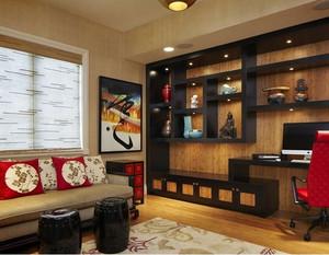 中式客厅置物架设计