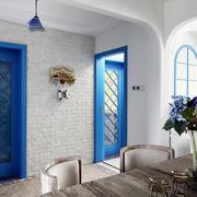 地中海风格婚房玄关装饰