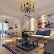 地中海风格客厅背景墙装饰