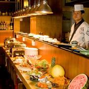 日式简约风格自助餐厅吧台装饰