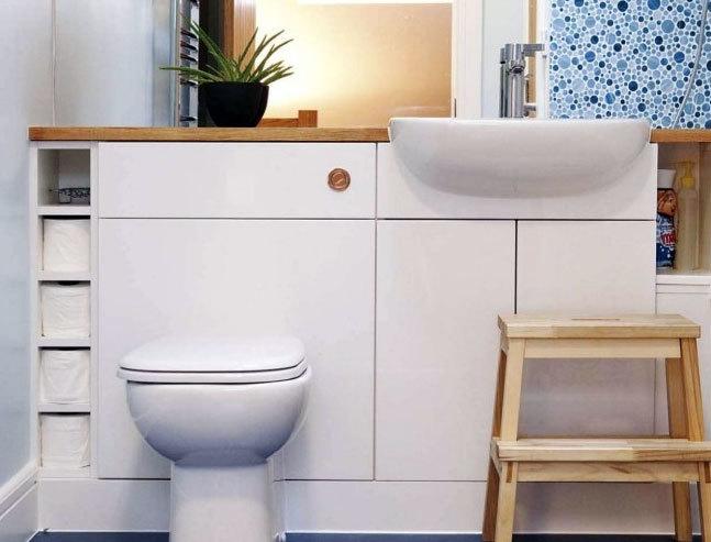 两室一厅一卫现代简约风格的卫生间装修效果图