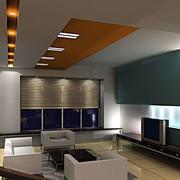 后现代风格简约客厅背景墙