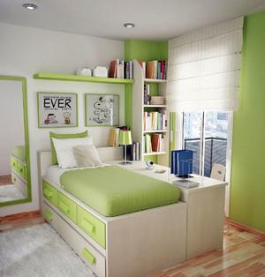 多功能卧室设计:现代简约榻榻米床装修效果图