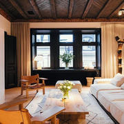 别墅美式客厅效果图