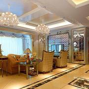 简欧风格别墅客厅地板装饰