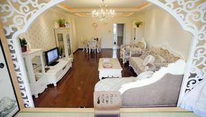 欧式客厅田园风格拱形门设计