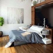 卧室简约浅色原木地板装饰