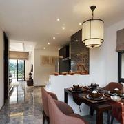 三室一厅中式餐厅灯饰设计