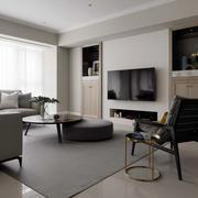 日式简约风格客厅电视背景墙
