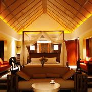 东南亚风格别墅卧室装饰