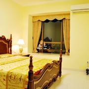 美式卧室窗帘装修