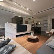 日式客厅简约隔断设计