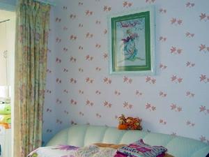 色彩缤纷的卧室液体墙纸装修效果图