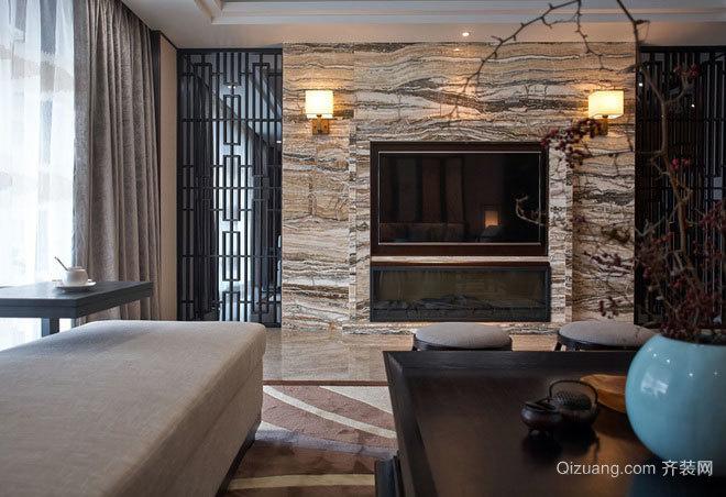 一见钟情展现东方优雅之美的私人别墅装修效果图
