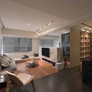 日式原木客厅地板装饰