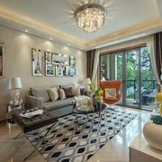 后现代风格客厅样板房装饰