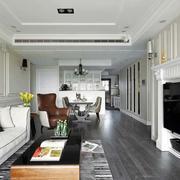 三室一厅简约客厅吊顶设计