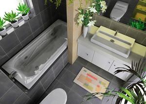 现代简约风格卫生间浴缸设计