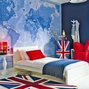 美式简约风格儿童房卧室装饰