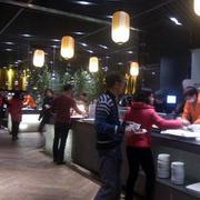 中式风格自助餐厅灯饰装饰
