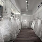 后现代简约白色婚纱店效果图