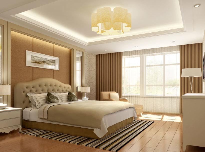 2015舒适精致的时尚卧室设计装修效果图实例鉴赏