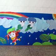 清新简约风格幼儿园墙饰