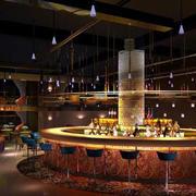 欧式奢华圆形酒吧吧台装饰