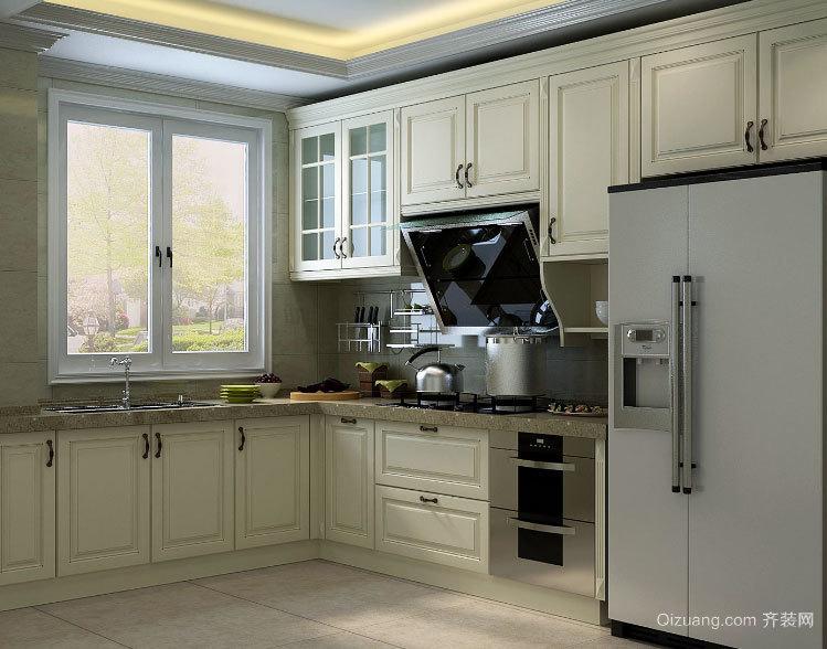 让做饭的动作也美起来:2015大户型厨房欧式橱柜效果图鉴赏