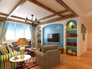 地中海风格客厅吊顶设计