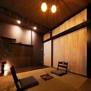 日式深色系榻榻米效果图