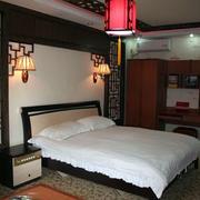 中式简约风格别墅卧室效果图