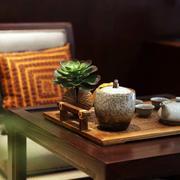 三室一厅简约客厅茶几设计