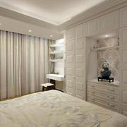 欧式简约白色卧室窗饰
