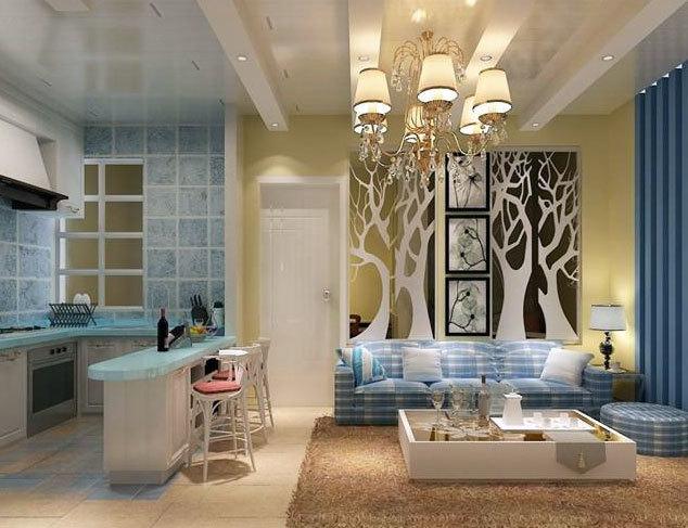 备受妈妈们青睐的地中海风格开放式厨房装修设计