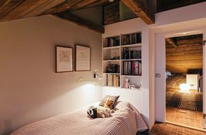 别墅木制简约卧室设计