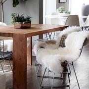 美式样板间餐厅简约桌椅