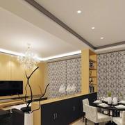 韩式简约风格客厅隔断设计
