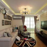 美式风格别墅客厅电视背景墙