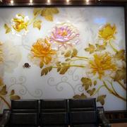 中式简约印花背景墙装饰